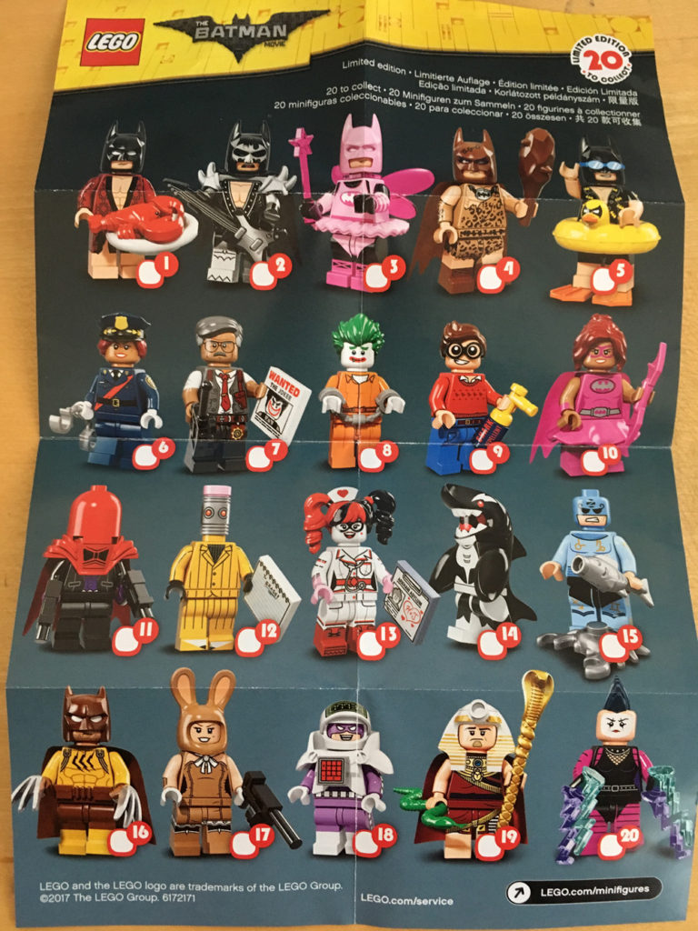 LEGO Batman Movie Minifigures 71017 Leaflet Front